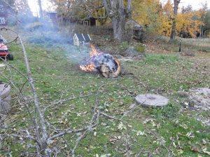 På elden