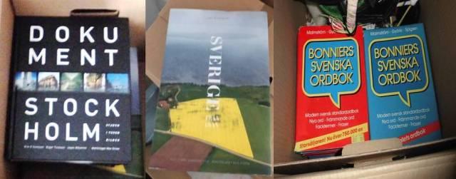 Böcker i låda