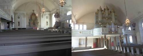 Inne i kyrkan