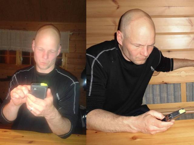 Greger med Iphone