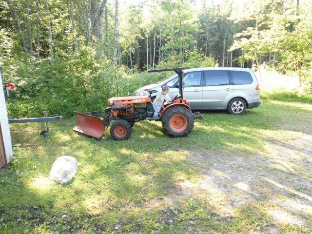 Linus och traktor
